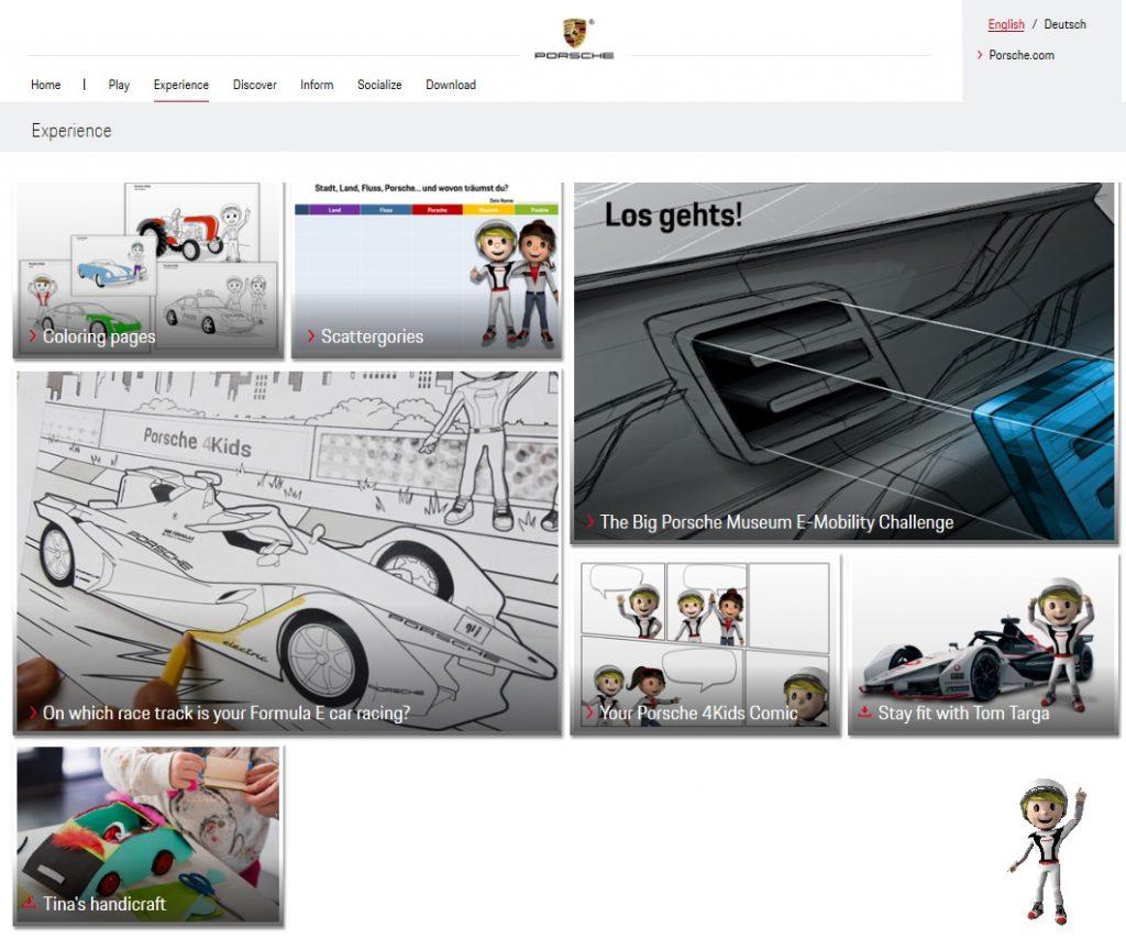 Porsche actividades interactivas