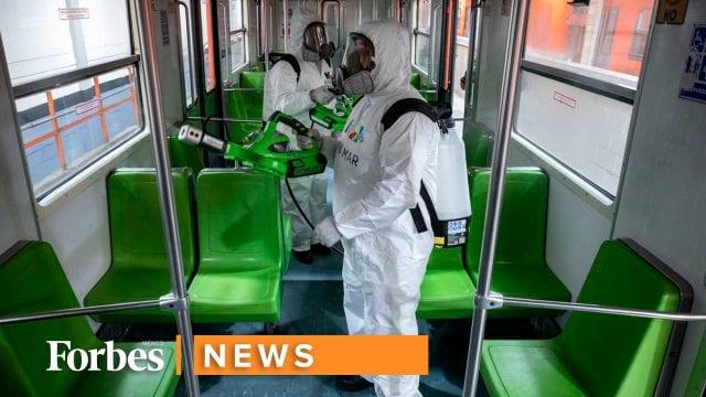 Coronavirus, la limpieza y desinfección en el Metro de la CDMX
