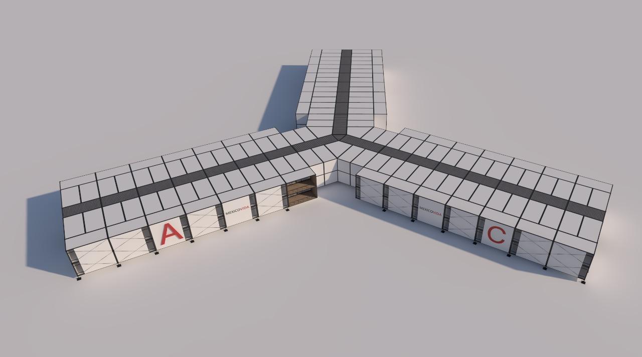 Construir un hospital en menos de 5 semanas, la meta de MEXICOVIDA