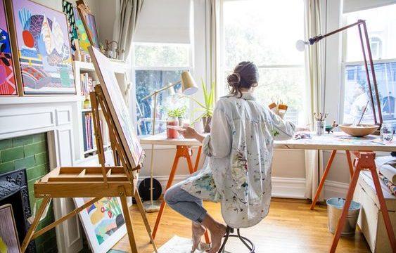 Estudio de arte en casa