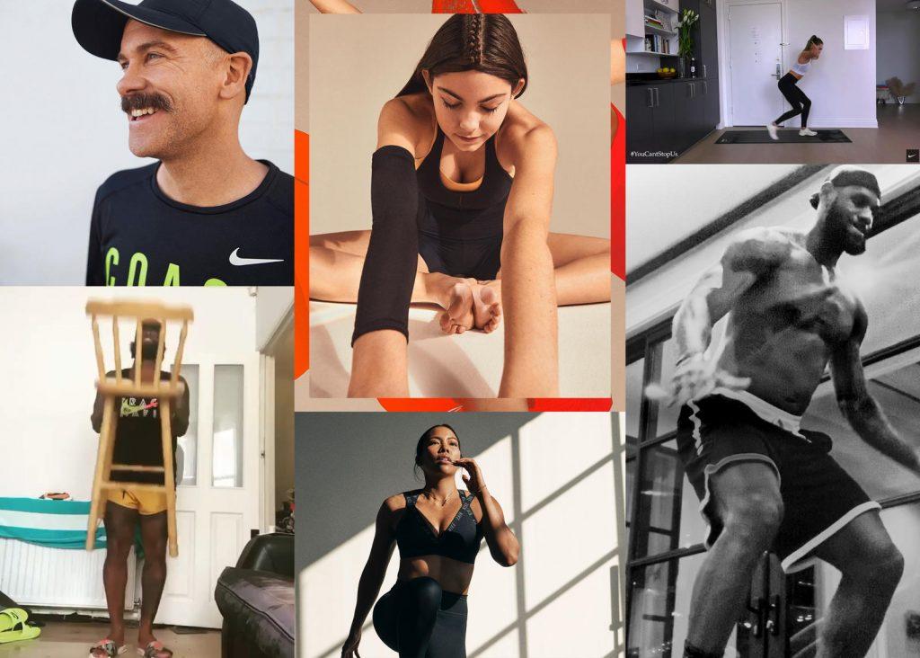 Nike gente haciendo ejercicio