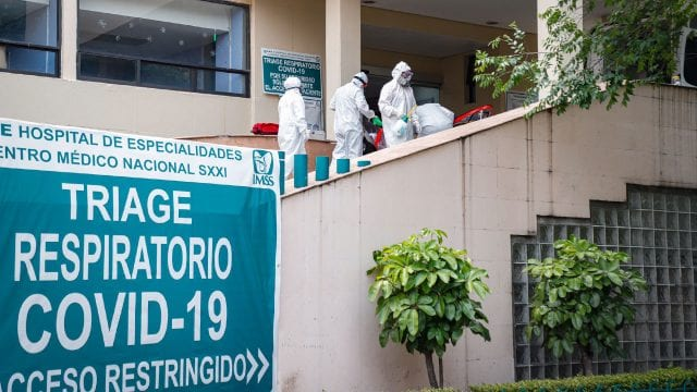 Coronavirus Hospital Siglo XXI durante la cuarentena por COVID-19
