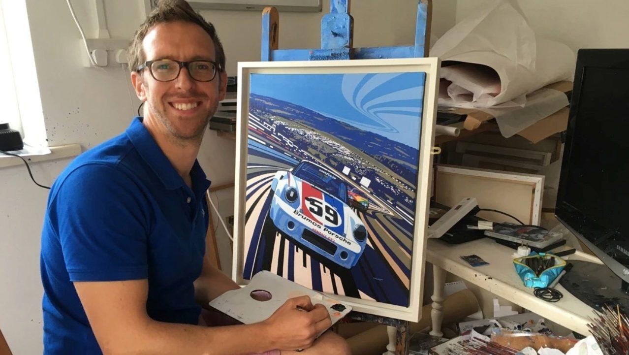 Porsche te dice cómo pintar autos de carreras en lienzos