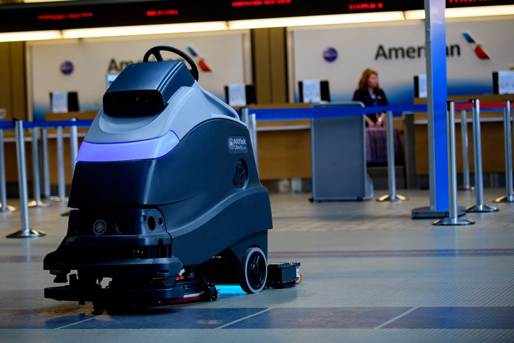 Coronavirus Pittsburgh Airport Deploys Ultraviolet Cleaning Robots To Disinfect Floors