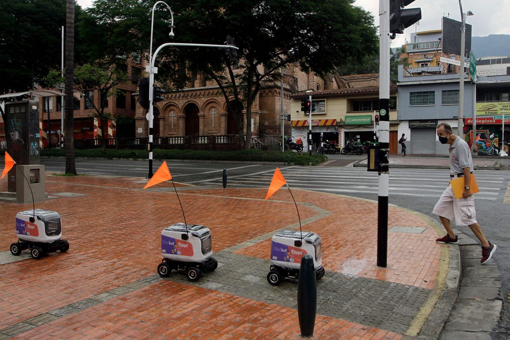 Coronavirus Delivery Services App 'Rappi' Uses Robots To Delivery Services In Colombia
