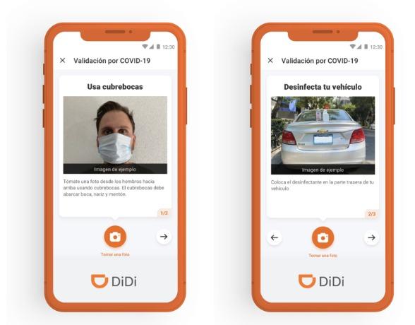 DiDi validará con inteligencia artificial el uso de cubrebocas de los conductores