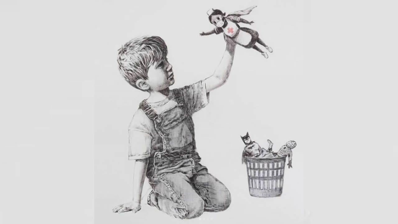 Christie's subastará tributo de Banksy a enfermeras