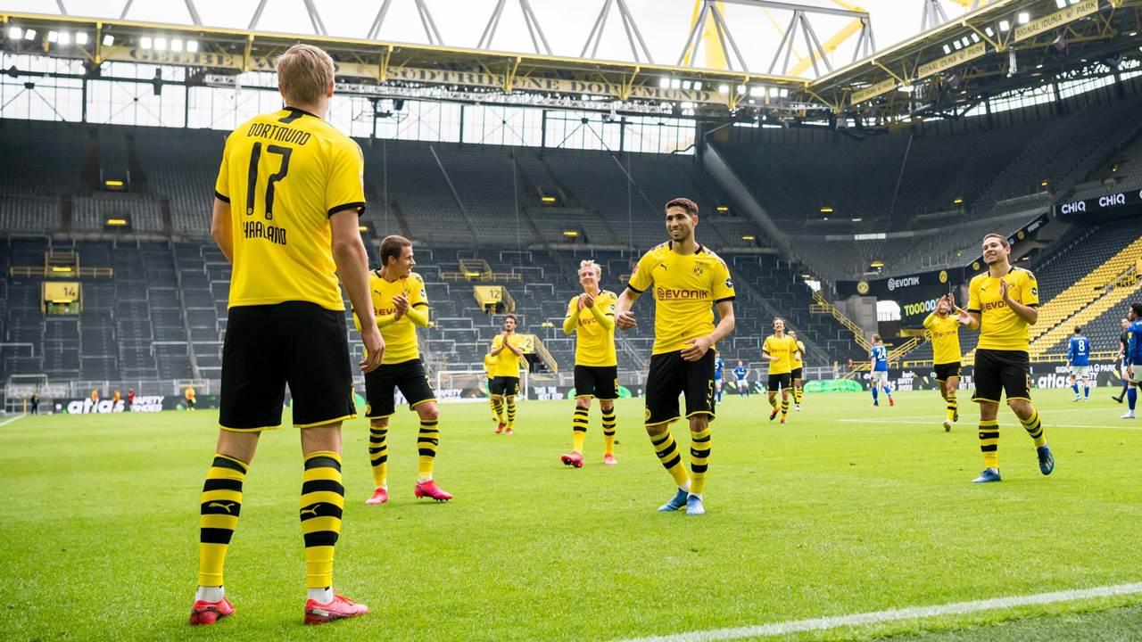 Con goleada, la Bundesliga vuelve a la actividad, aunque a puerta cerrada