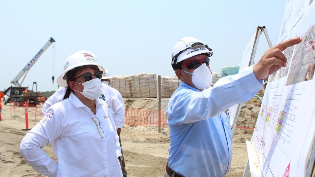 Nahle rechaza influyentismo en obras de refinería de Dos Bocas