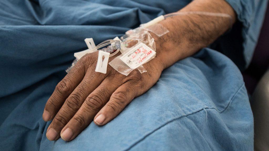 Coronavirus Área de recuperación de pacientes COVID-19 del Hospital
