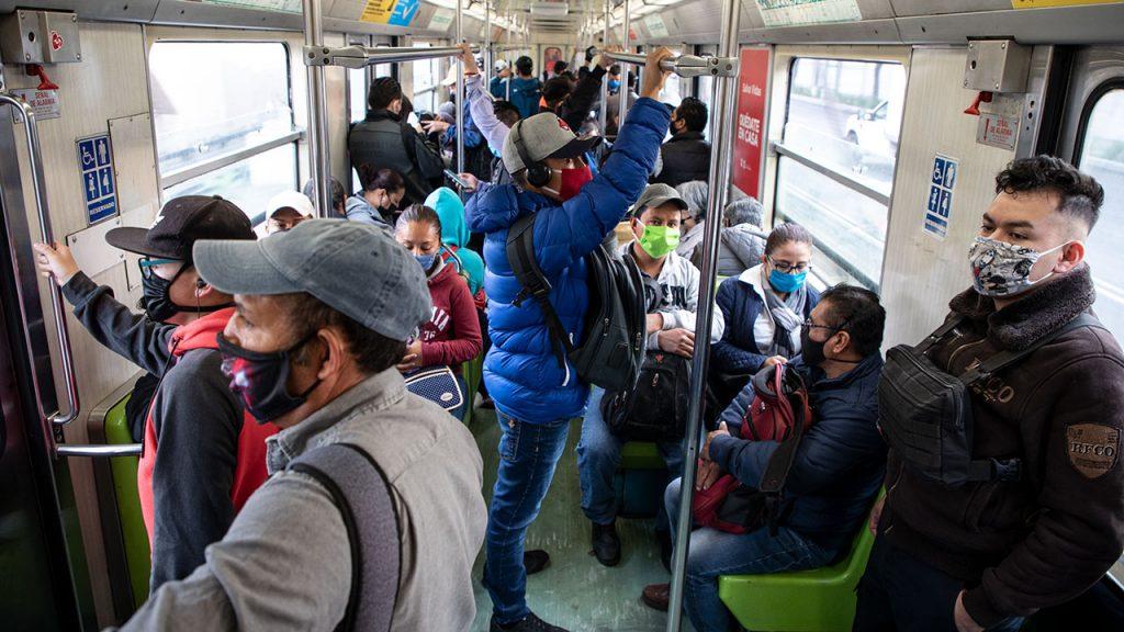 Coronavirus: regreso a la nueva normalidad. Transporte Colectivo Metro