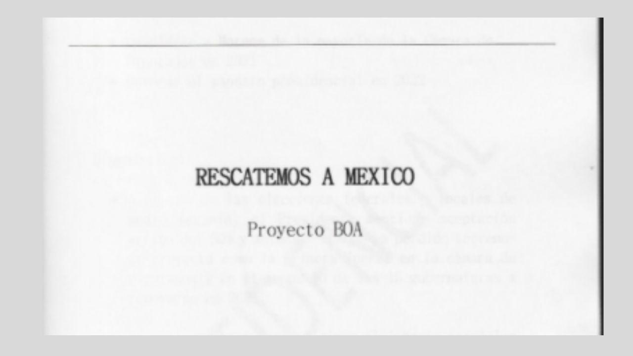 Representante de la 4T pidió publicar 'proyecto BOA', asegura El Universal