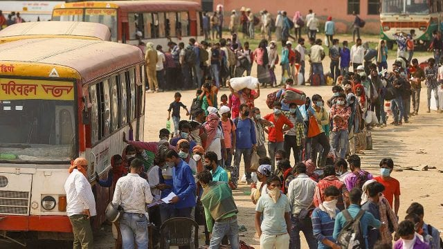Coronavirus Migrant Workers Returning Home in India