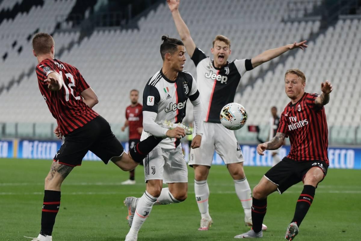 Juventus se mete a la final de la Copa Italia, en el regreso del fútbol tras el Covid-19