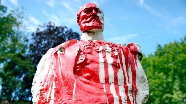 Estatua Monumentos protestas Black lives matters bélgica bruselas