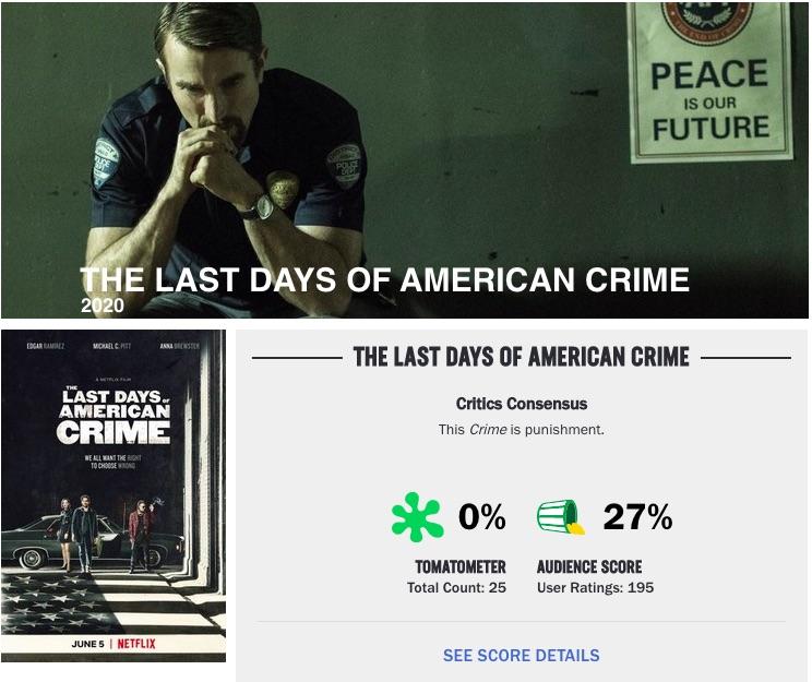 Netflix Los últimos días del crimen