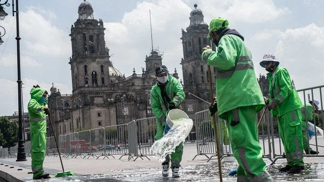 Preparativos para reapertura del comercio en el Centro Histórico Coronavirus