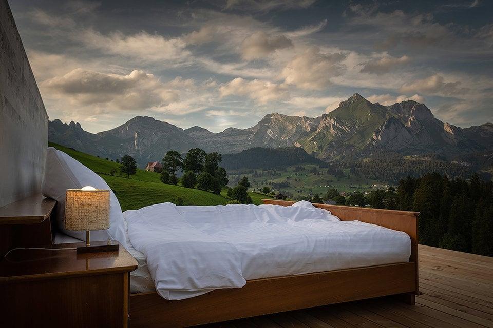 """""""Habitaciones"""" al aire libre de hoteles suizos dan nuevo significado de liberación"""