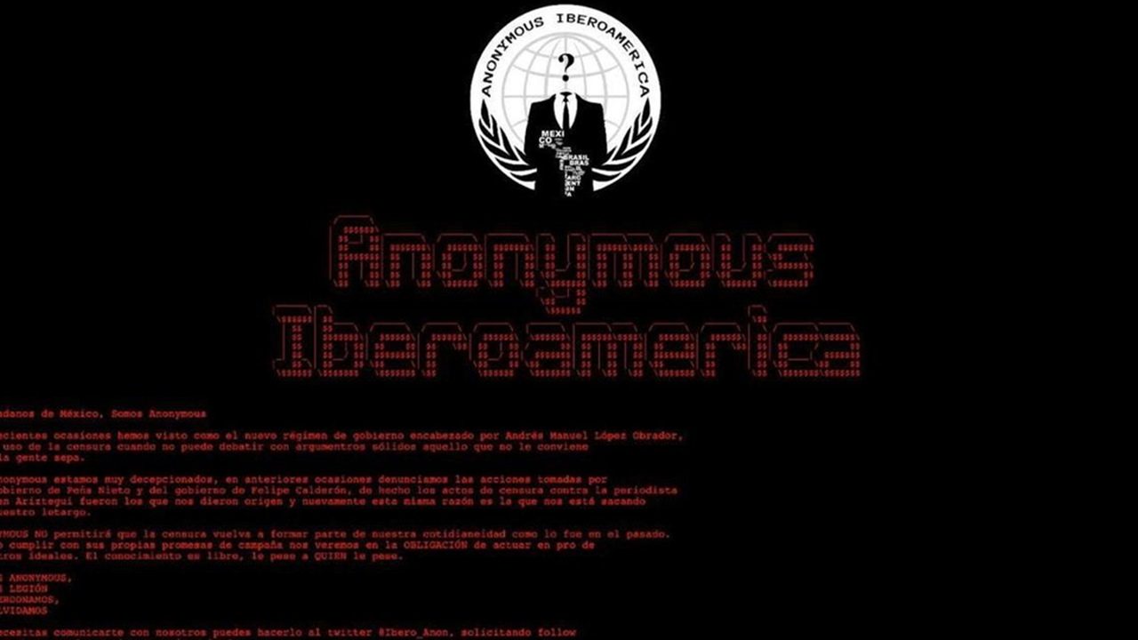 'Anonymous' hackea página del Conapred