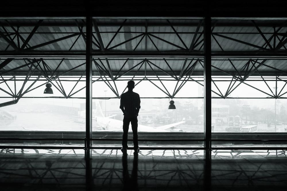 viajes internacionales, aeropuerto