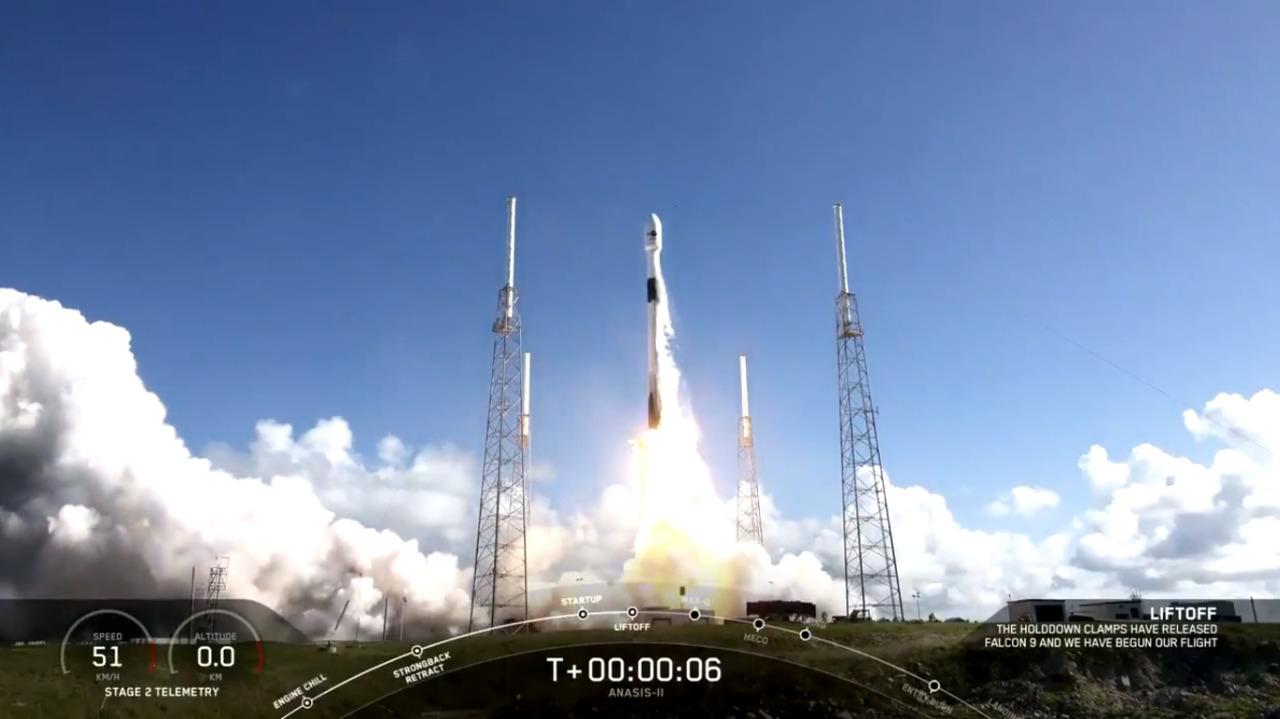 Space X lanza al espacio satélite Anasis 2, construido para Corea del Sur