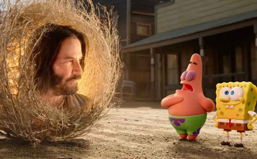 Bob Esponja al rescate Keanu Reeves