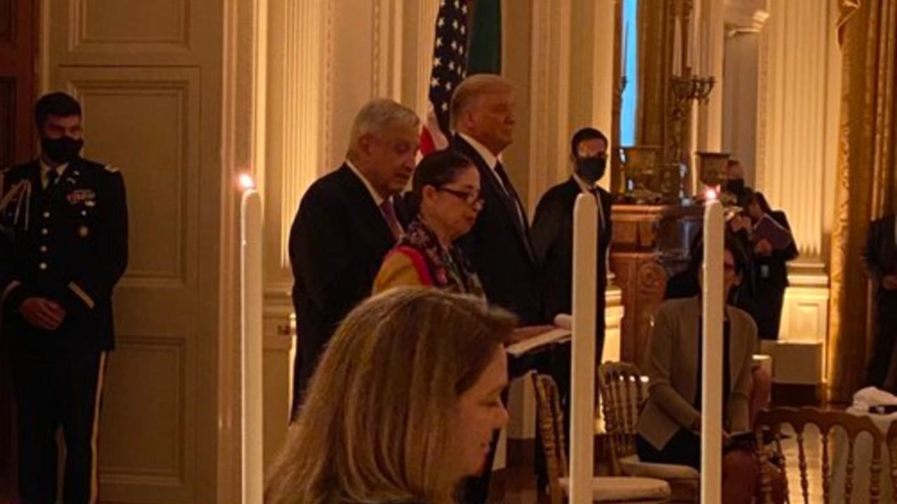 Cena en la Casa Blanca: AMLO y empresarios celebran el T-MEC