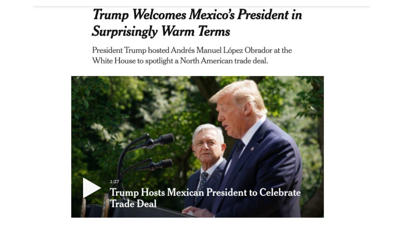 'Trump fue sorpresivamente cálido con AMLO'; así vio la prensa de EU la reunión bilateral