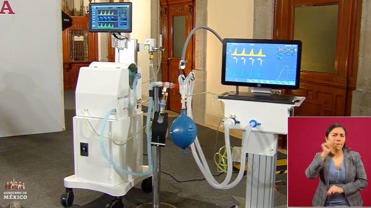 Gobierno de AMLO presenta ventiladores hechos en México para atender Covid-19