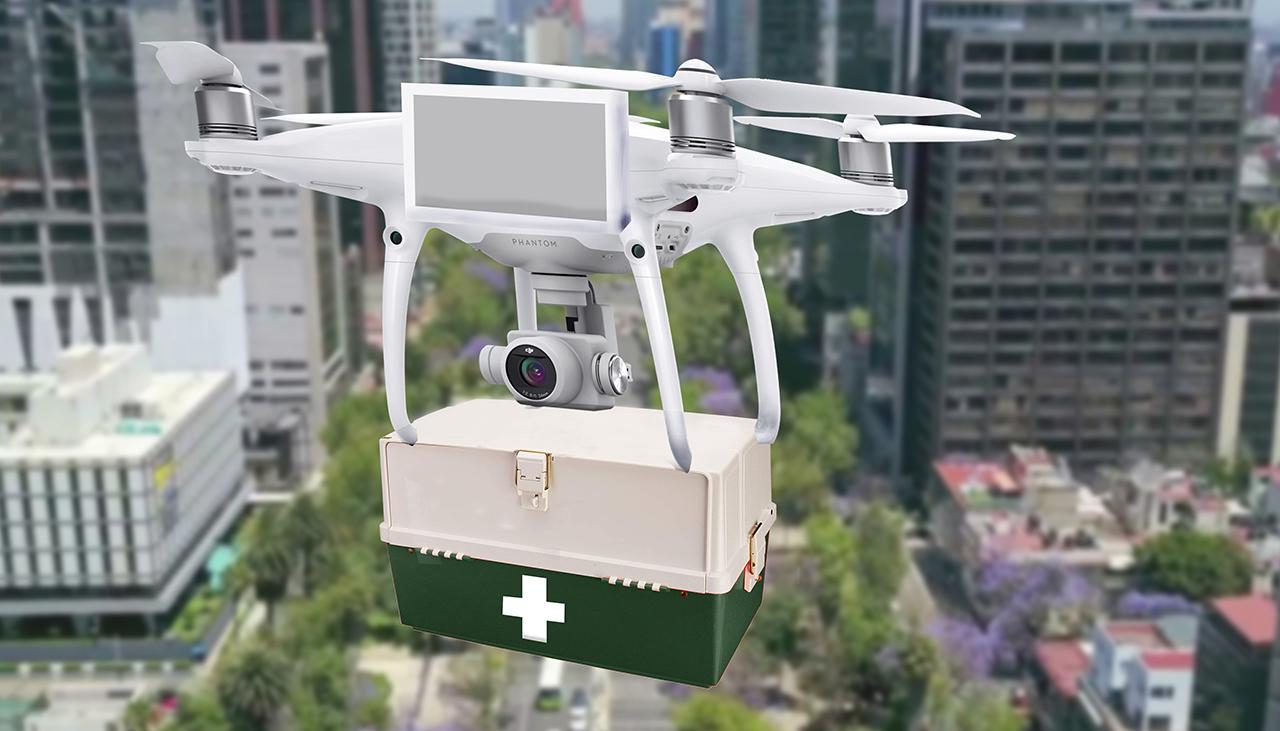 Alumno del Tec crea plataforma para transportar en drones las pruebas de Covid-19