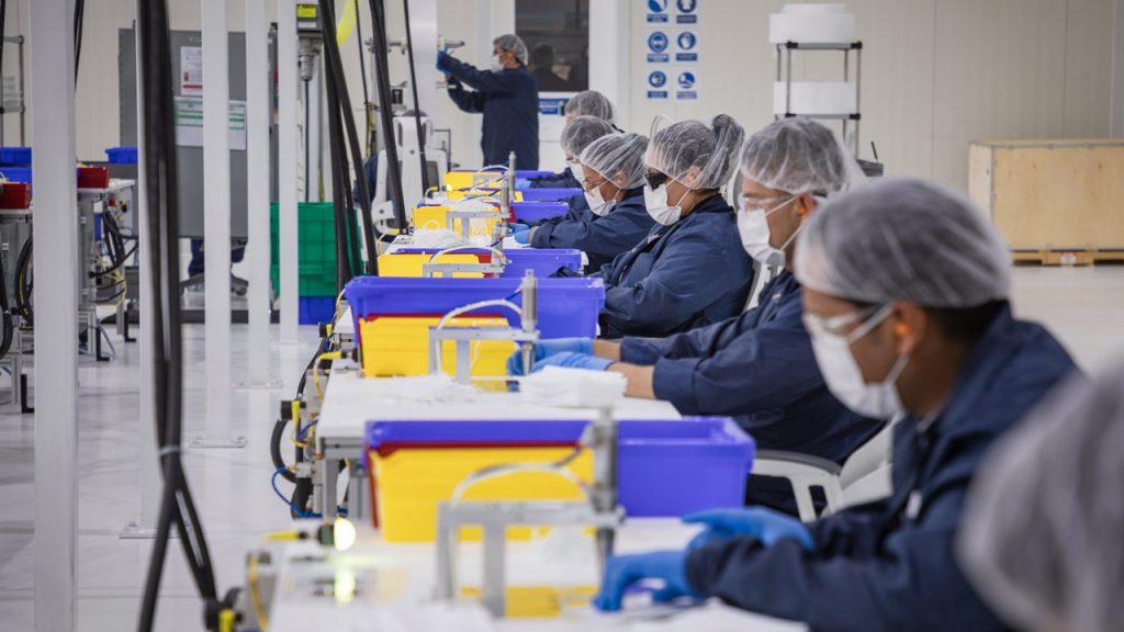General Motors Cubrebocas mascarillas fabrica