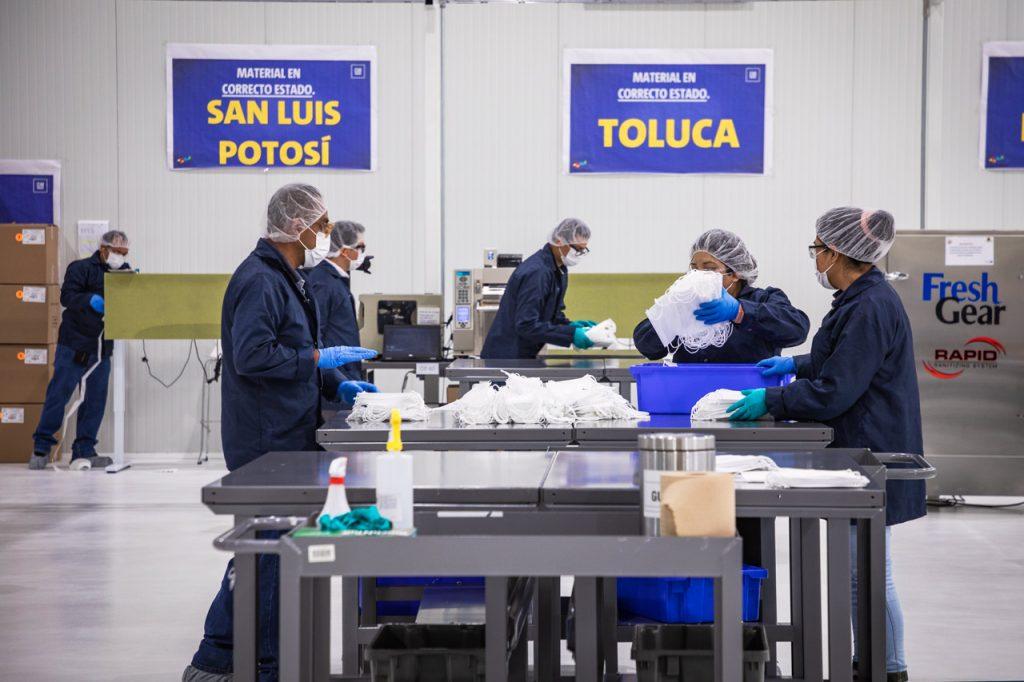 General Motors Cubrebocas mascarillas trabajadores empleo