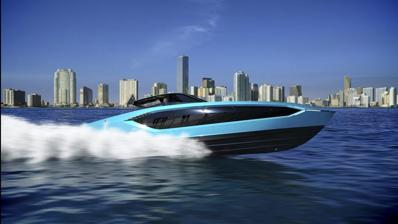 Así es el lujoso yate inspirado en los autos de Lamborghini