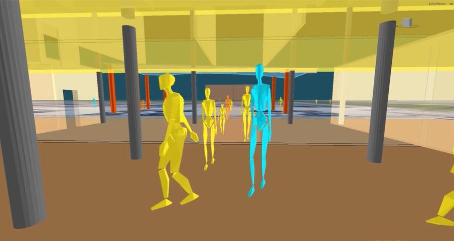 Distribución de gente en espacios públicos se podrá examinar con simulación digital