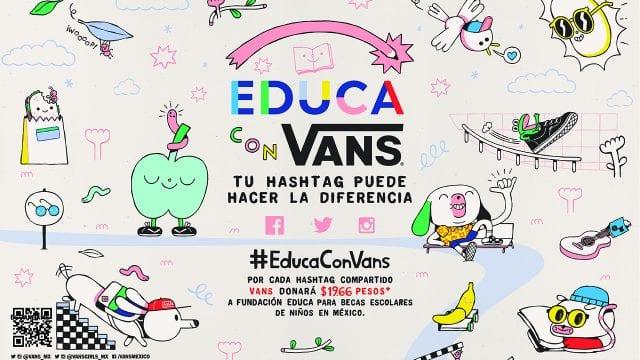 #EducaConVans, campaña, hashtag, Vans,