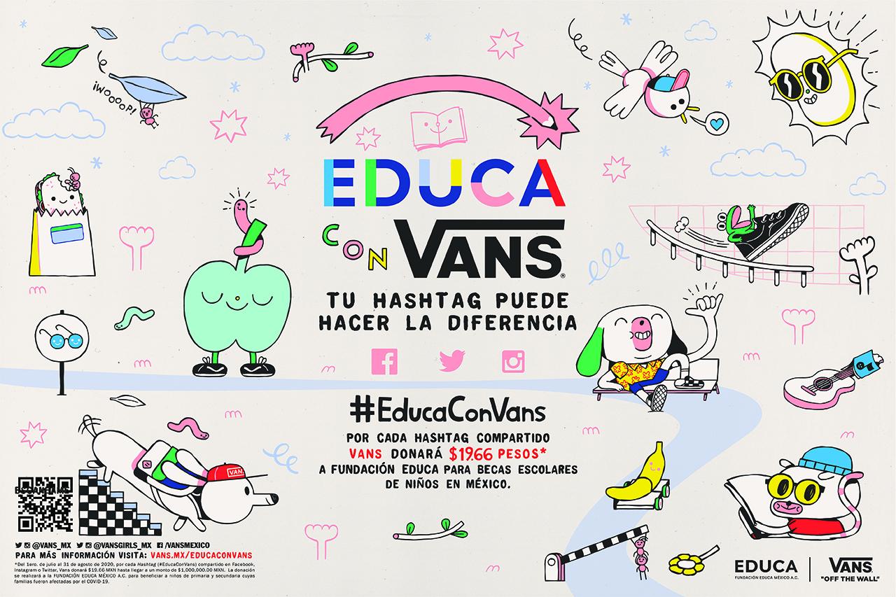 #EducaConVans, una iniciativa social contra la deserción escolar en México