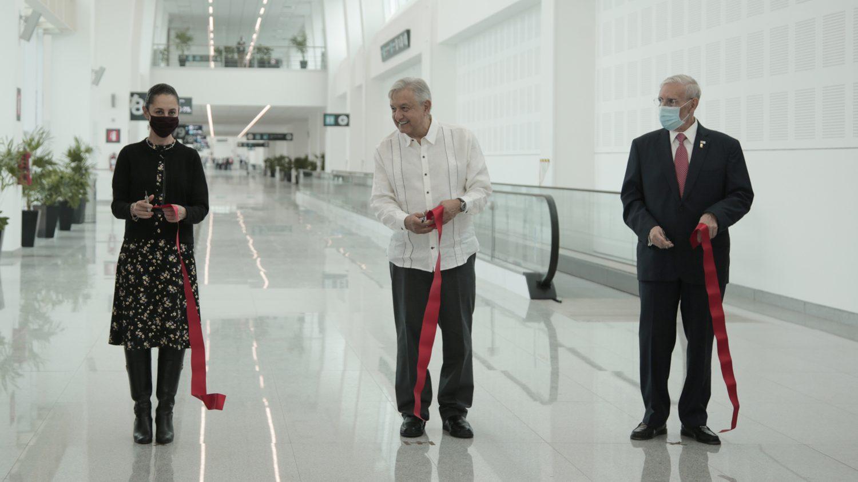 AMLO inaugura ampliación de la Terminal 2 del AICM