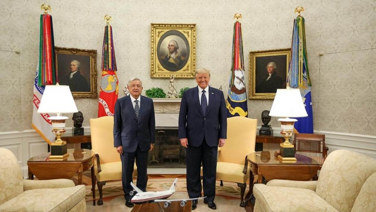 AMLO y Trump se agradecen por buena relación y T-MEC