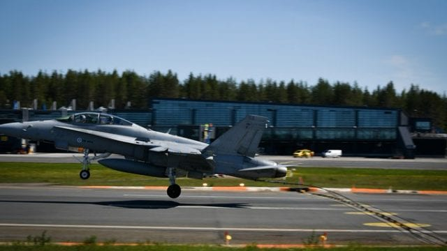 Fuerza aérea Finlandia esvástica