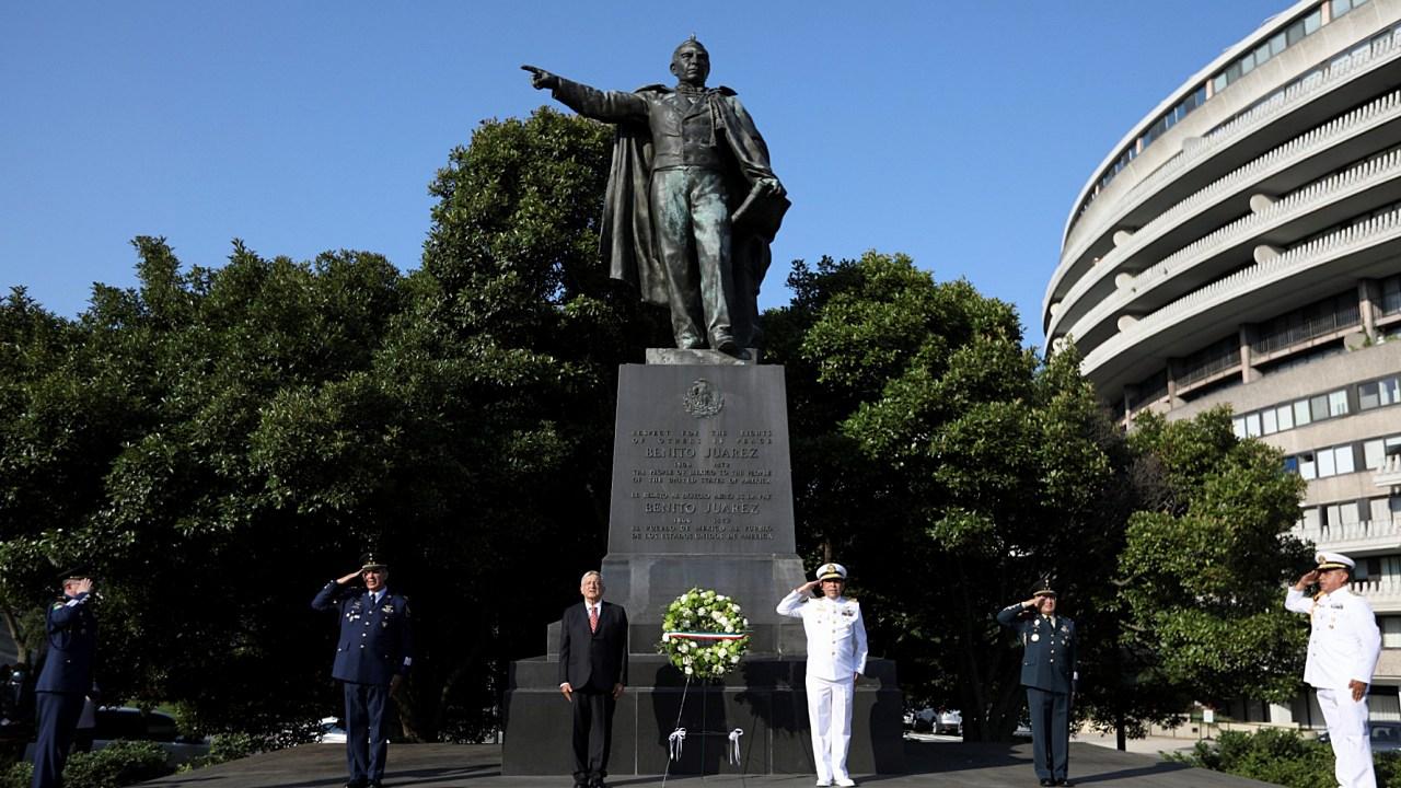 ¿Cómo llegó una estatua de Benito Juárez a Washington?