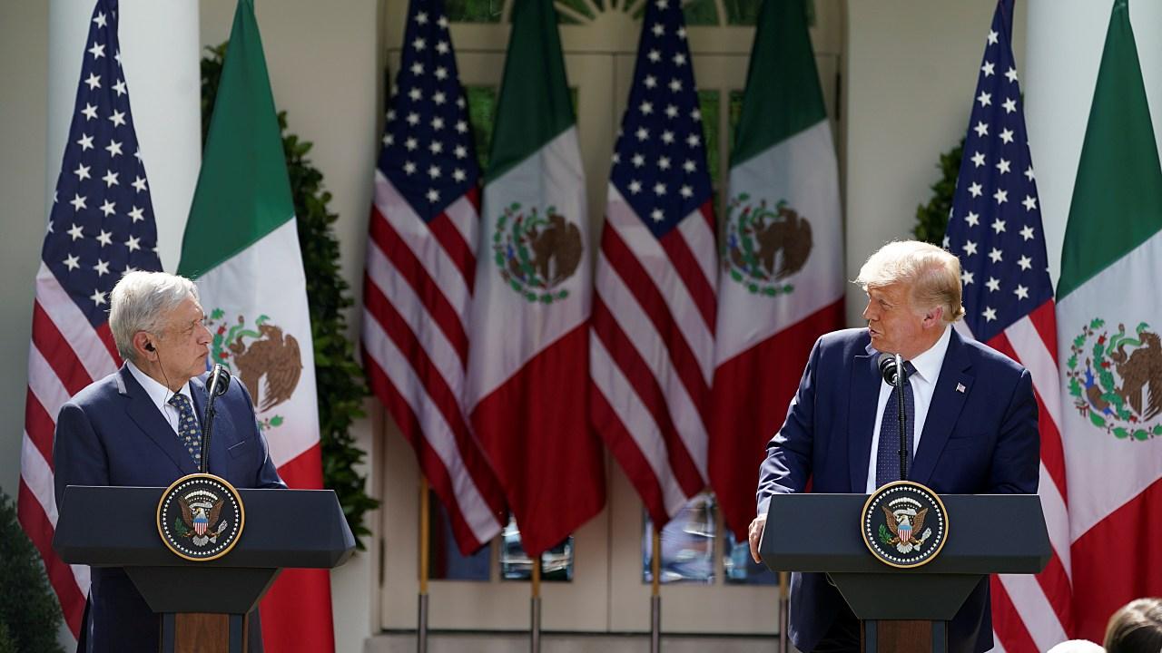 AMLO dio el 'Viva México' en la Casa Blanca ante Donald Trump