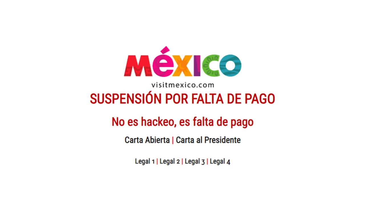 Denuncian 'secuestro' de página de VisitMexico