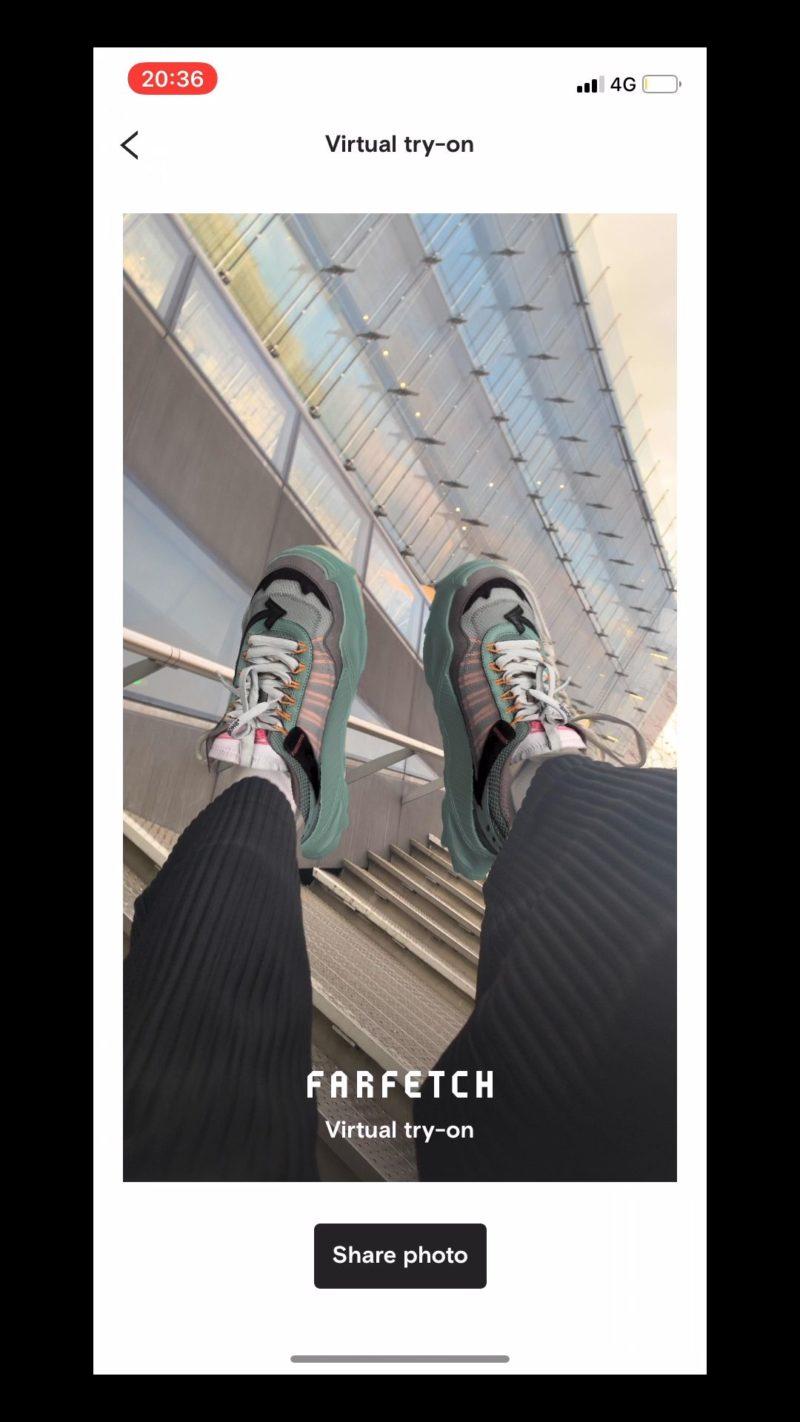 Farfetch probador virtual