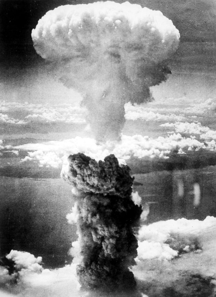 Mushroom cloud of the Nagasaki