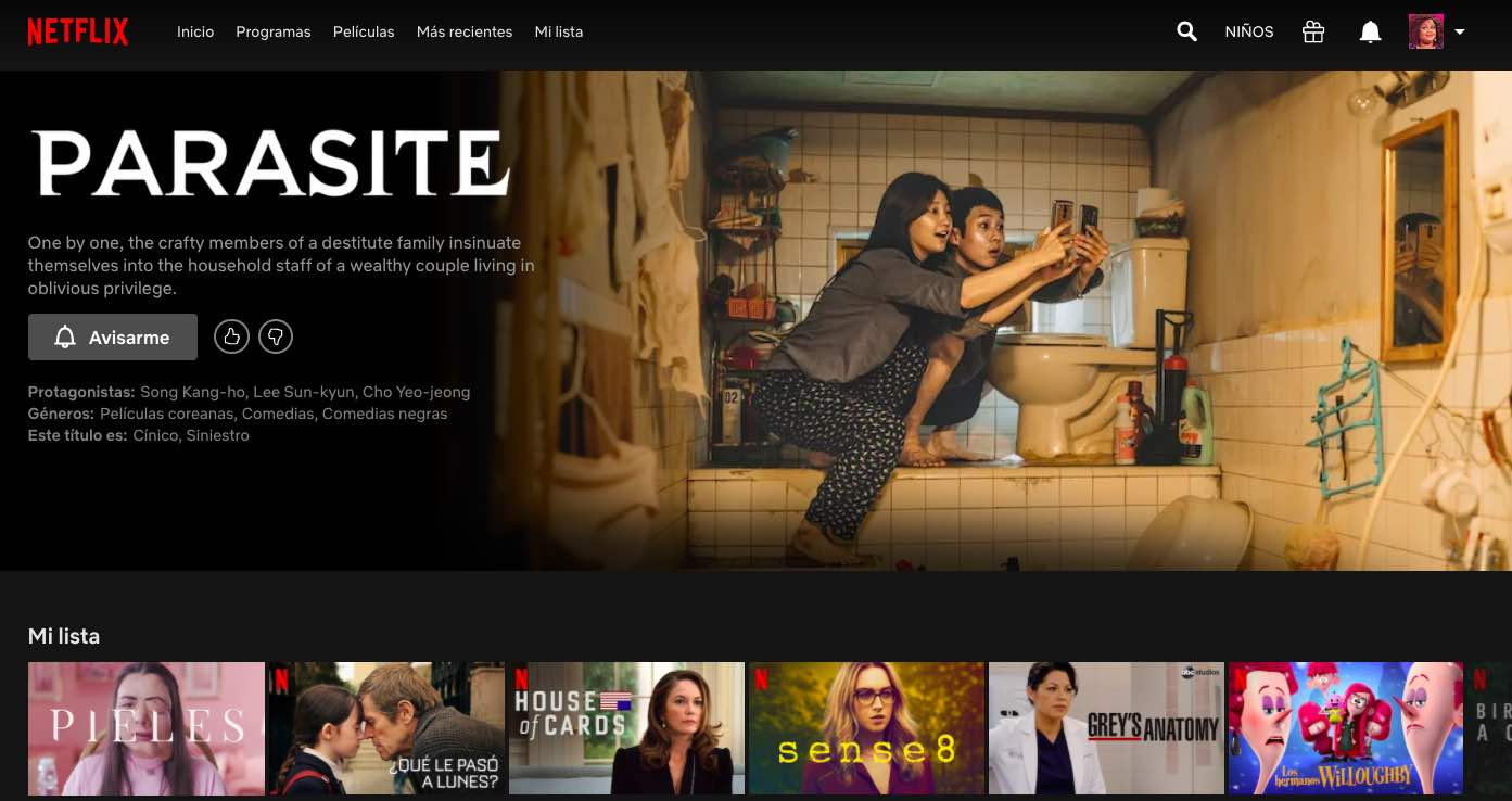 Parasite Netflix