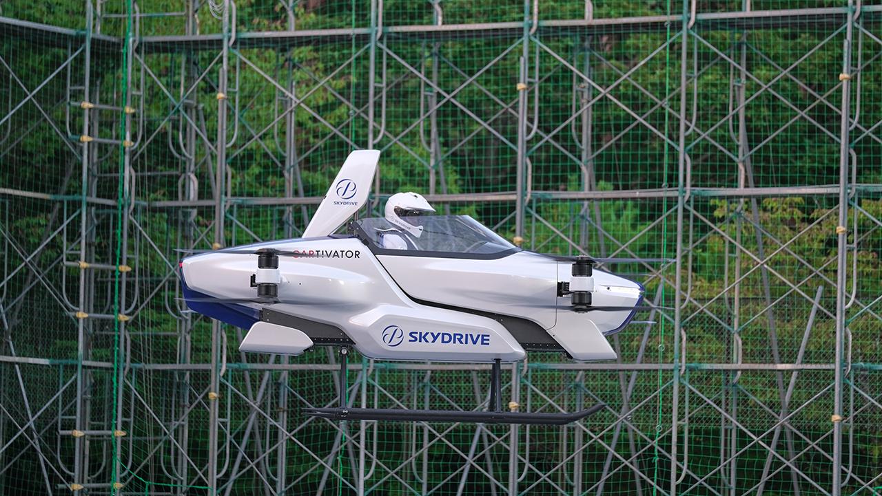 Este es el auto volador probado con éxito en Japón