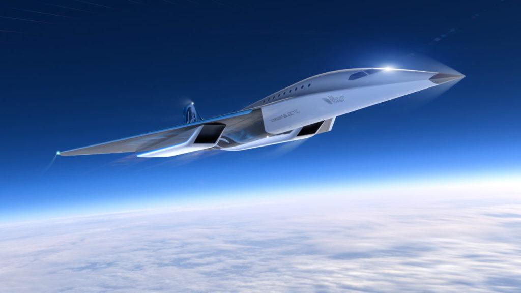 avión supersonico Virgin Galactic