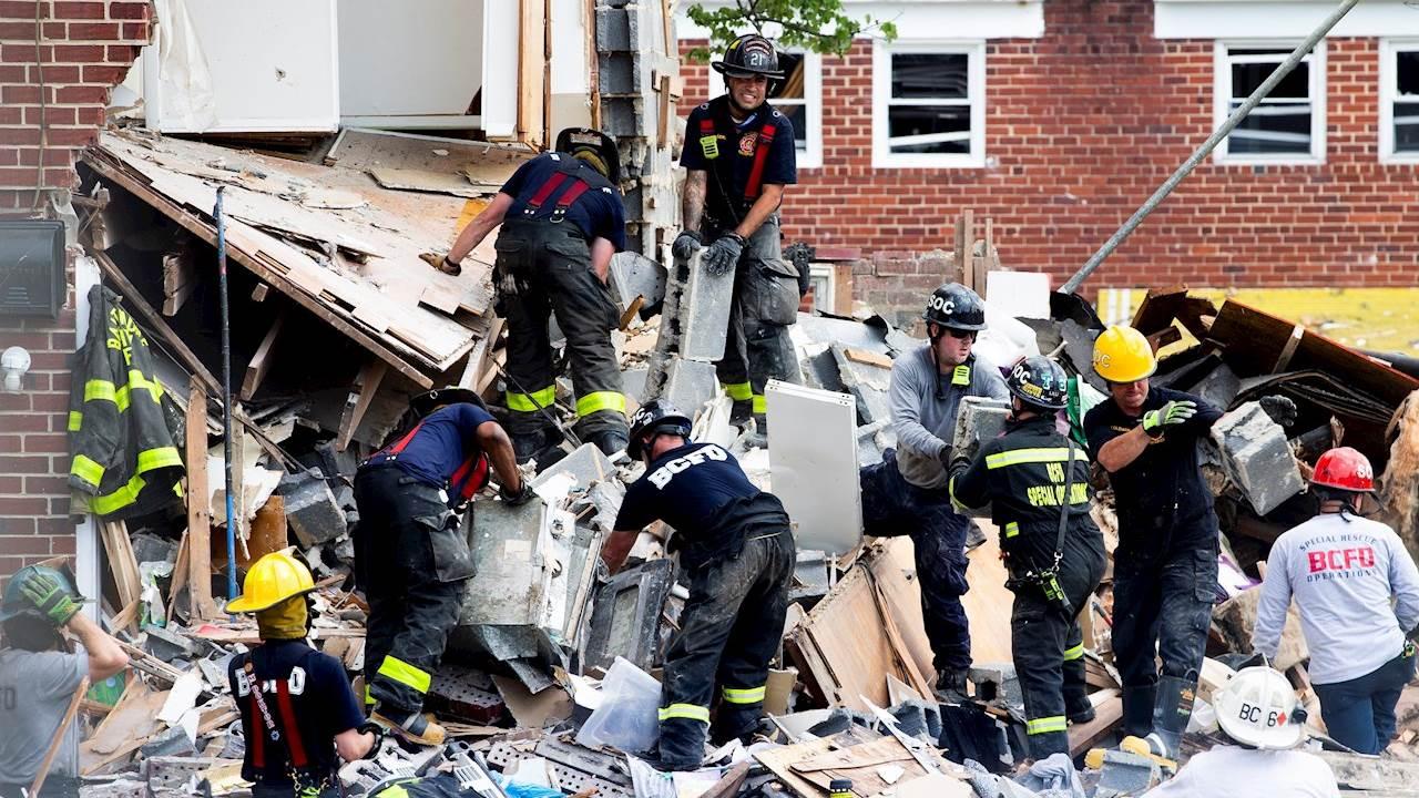 Enorme explosión sacude barrio de Baltimore; reportan personas atrapadas en escombros