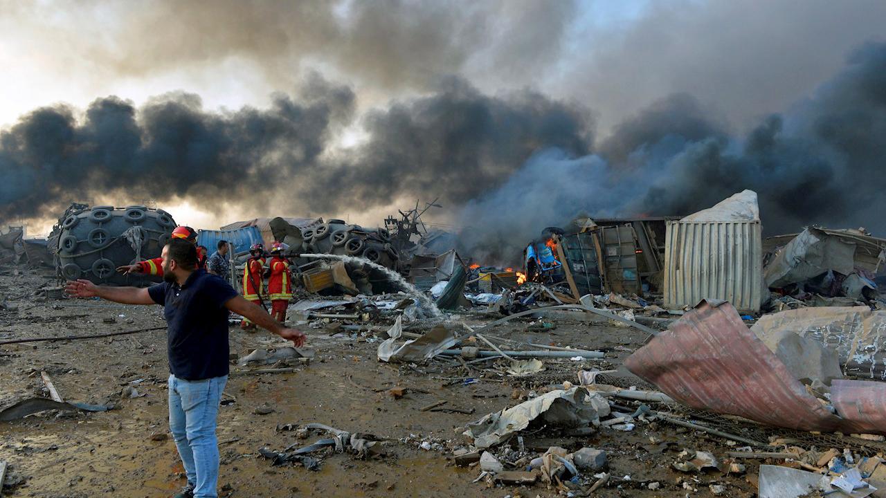 'Sin señales de vida' en escombros en Beirut tras 3 días de búsqueda