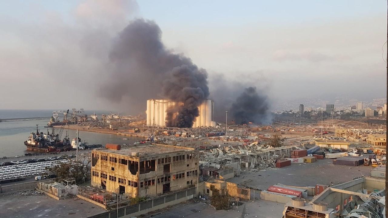 Fuerte explosión en Beirut  sacude varios kilómetros